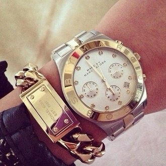 jewels watch michael kors marc by marc jacobs bracelets chain