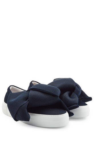 bow sneakers blue shoes