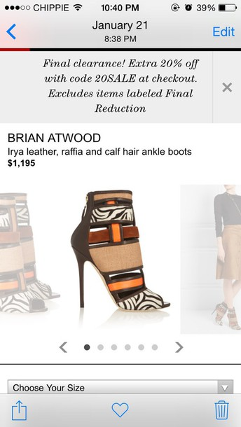 shoes style animalprint brian atwood chique dare dare to be you