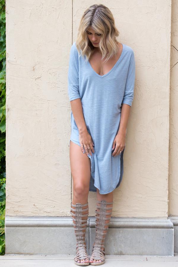 Dress Slit Dress Cute Cute Dress T-shirt Dress Fall Outfits Fall Dress Outfit Tumblr ...