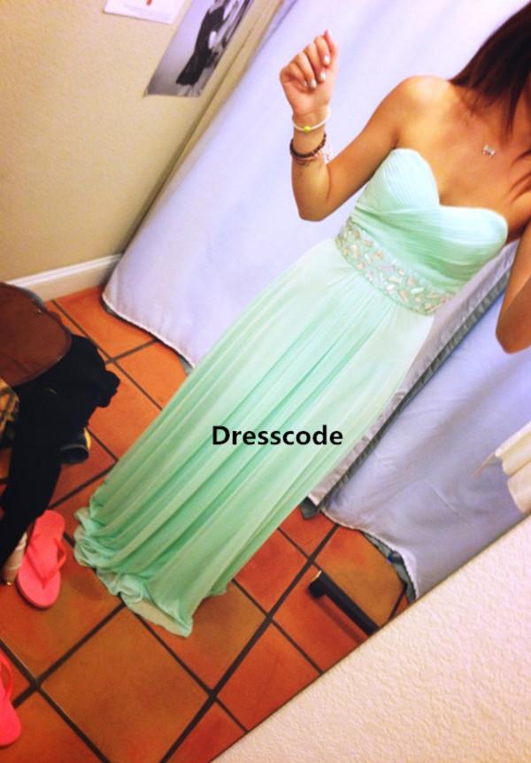 bridesmaid mint dress party dress chiffon dress bridesmaid wedding dress prom dress prom dress homecoming dress