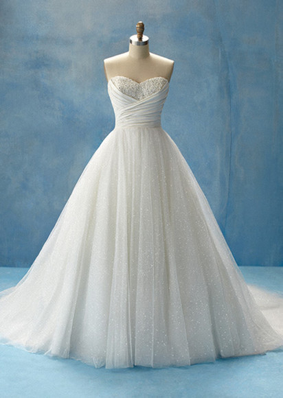 dress wedding dress white dress sparkles cinderella wedding clothes cinderella dress white sparkle dress