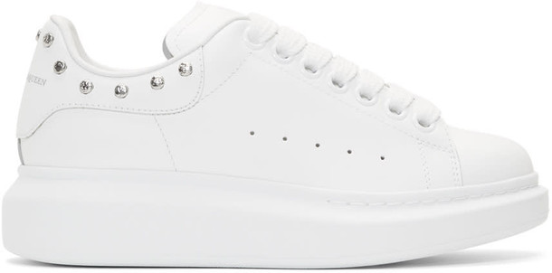 Alexander Mcqueen studded oversized sneakers white shoes