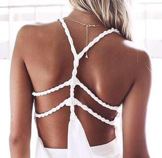 top white white top details detailed back summer top summer outfits