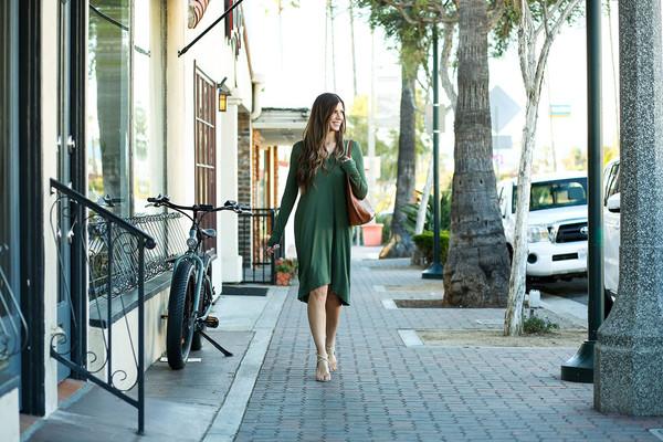 mint arrow blogger dress bag shoes