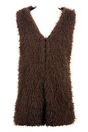 brown vest,brown waistcoat,faux fur vest,faux fur waistcoat,brown faux fur,lined waistcoat,lined vest,teddy texture lining,www.ustrendy.com