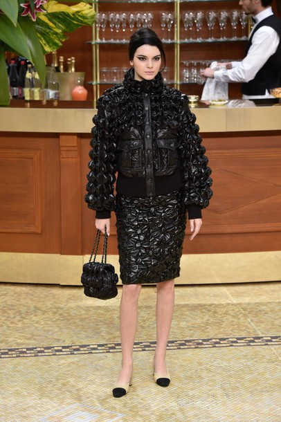 jacket kendall jenner fashion week 2015 skirt