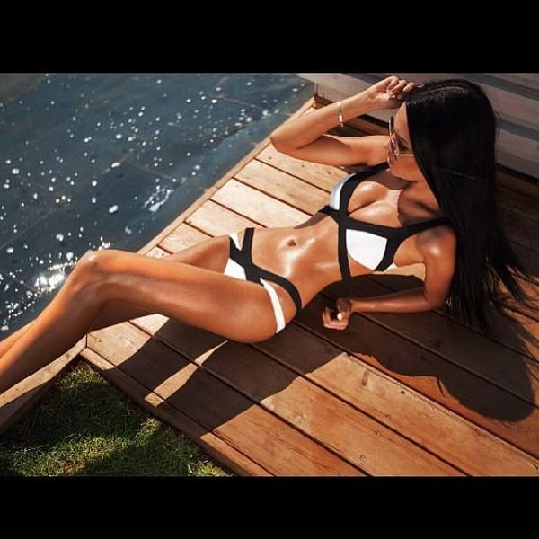swimwear sexy black bikini black and white cute bikini sexy black bikini white bikini