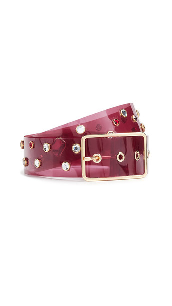 B-Low The Belt Gemma Belt in gold / burgundy