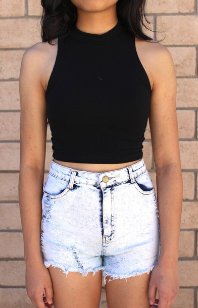 Top black top t-shirt summer outfits girl girly style tumblr top tumblr crop top tumblr ...