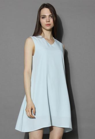 dress chicwish mint dress v neck dress shift dress summer dress chicwish.com