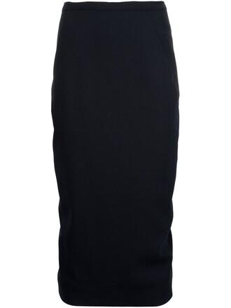 skirt pencil skirt back draped black