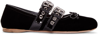 flats black velvet shoes