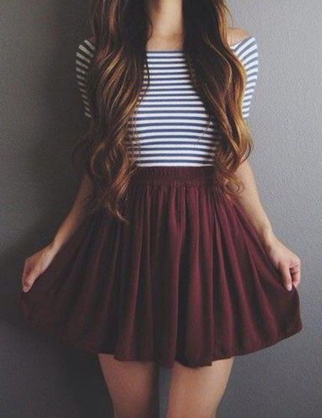 skirt burgundy cute tumblr outfit wheretoget