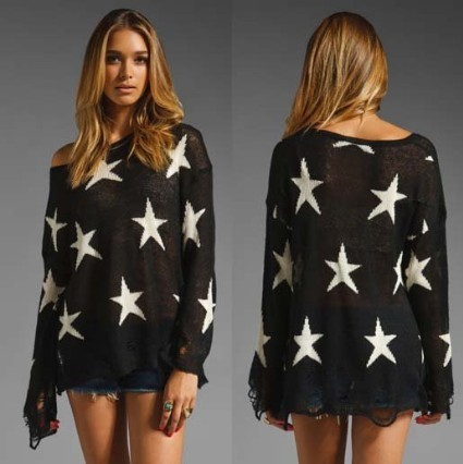 East Knitting AS 012 Women Fashion Pullover Knitwear  NO. 9 Sweater Star Tops Free shipping-in Sweaters from Apparel & Accessories on Aliexpress.com