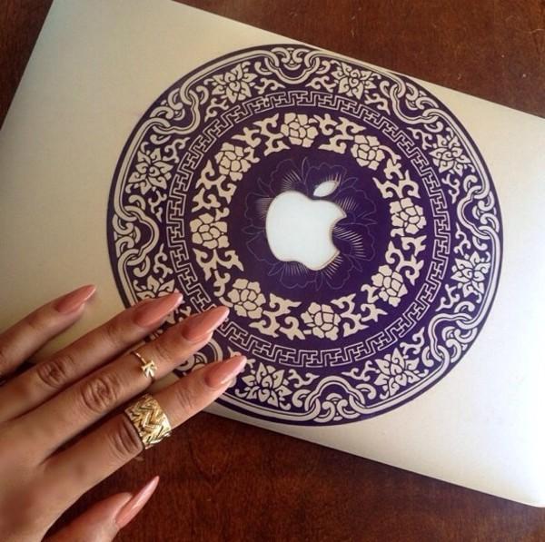 phone cover macbook sticker pattern. nail polish macbook decal stickers macbook pro macbook case pattern bohemian boho indonesian fiji blue