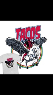 t-shirt,tacos,marvel,design,print,unicorn,deadpool