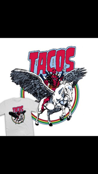 t-shirt print tacos marvel design unicorn deadpool