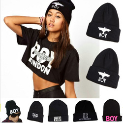 Online Shop  2013 Winter Hat BOY LONDON Eagles Knitted Wool Cap Fashion Embroidered Black Warm Hat For Boy Girls' Beanies|Aliexpress Mobile
