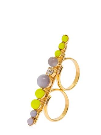 ring yellow grey jewels