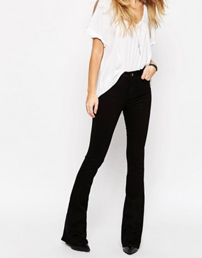 black flare jeans - Jean Yu Beauty