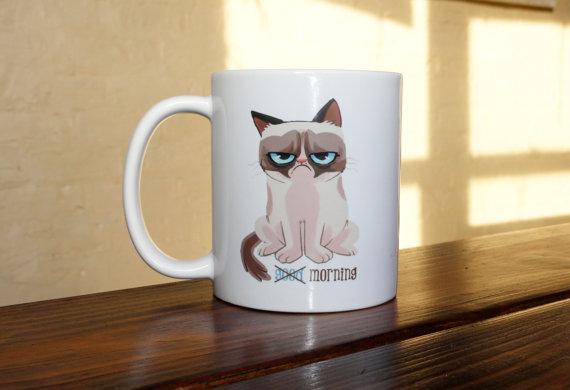 Grumpy Cat Coffee Mug by 312INK on Etsy