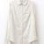 White Long Sleeve Lapel Striped Blouse - Sheinside.com