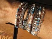 jewels,boho,suede bracelet,leather wrap,multi strand bracelet,leather wraps