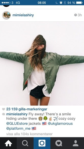 jacket green bomber jacket green jacket style bomberjcket