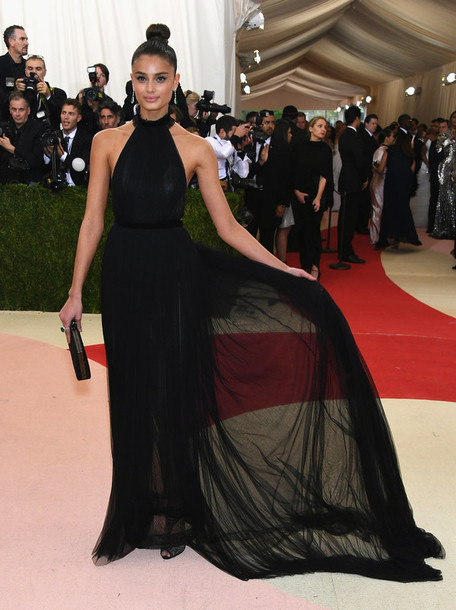 Dress Black Dress Gown Prom Dress Taylor Hill Met Gala Red