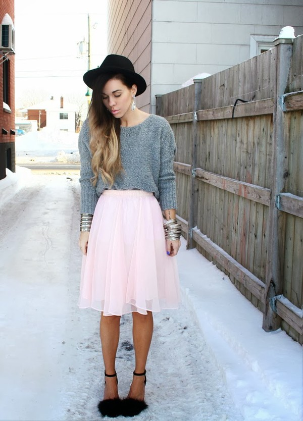 bewolf skirt sweater hat jewels