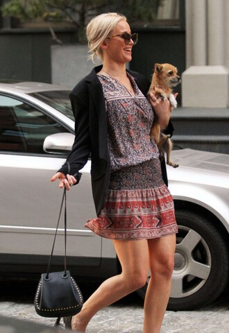 dress spring outfits spring dress jennifer lawrence purse