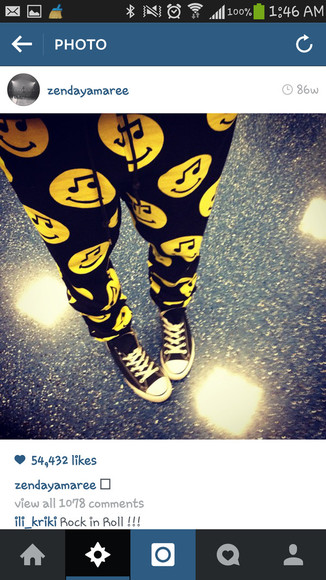 zendaya smiley face pants swag