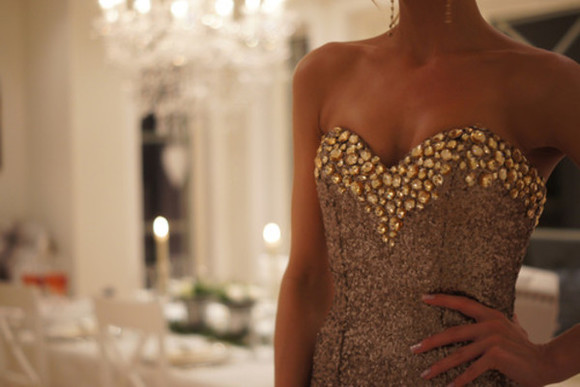 grey bustier dress studs gemstones grey dress gold studs gold sequins pretty dress