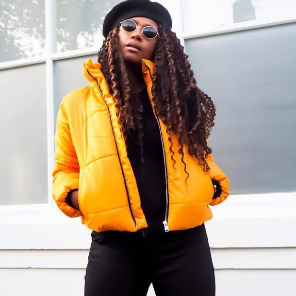 Jacket Tumblr Yellow Yellow Jacket Sunglasses Beret - Wheretoget