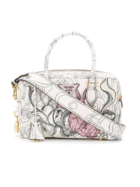 Prada women handbag leather bag