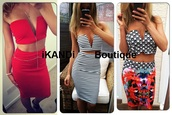 dress,ikandi boutique,cropped,crop,fashion,style,cute,sexy,sexy dress,two-piece,top,v neck,plunge v neck,party dress,summer dress,ibiza,las vegas dress,summer,holiday dress,skirt,midi skirt,red dress,stripes,striped skirt,floral dress,floral skirt