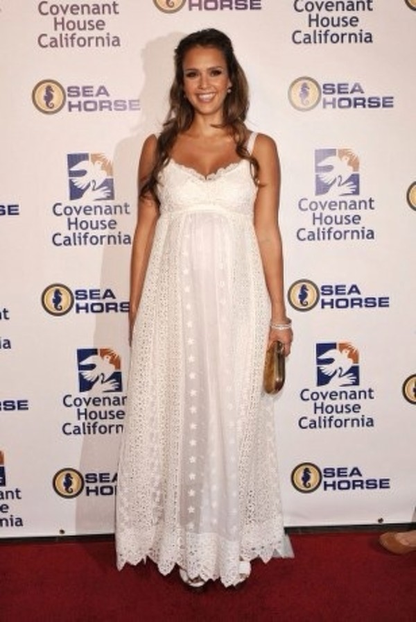 dress jessica alba summer dress long evening dress white lace dress laces white dress long dress summer