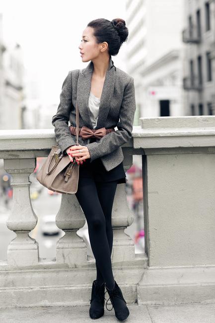 San francisco summer :: soft blazer & silk bow : wendy's lookbook
