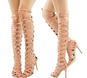 Strappy high heels gladiator sandal