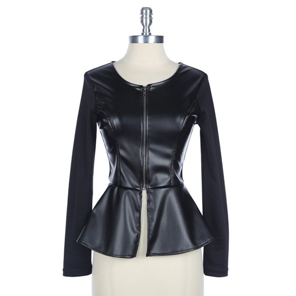 shirt spectra faux leather jacket winter outfits fall outfits fashion peplum top makeup table row dress to kill vanity row rock vogue chic