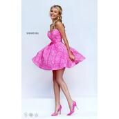 dress,prom dress,sherri hill,short shorts,aqua,customized