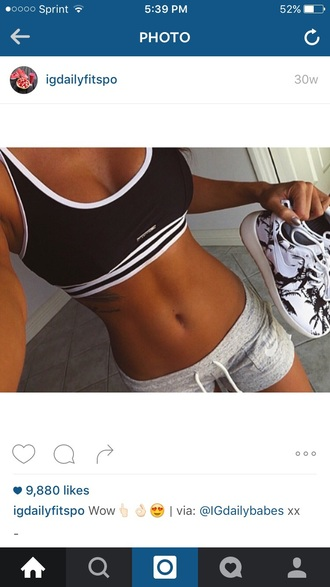 underwear stripes bra top black and white sports bra