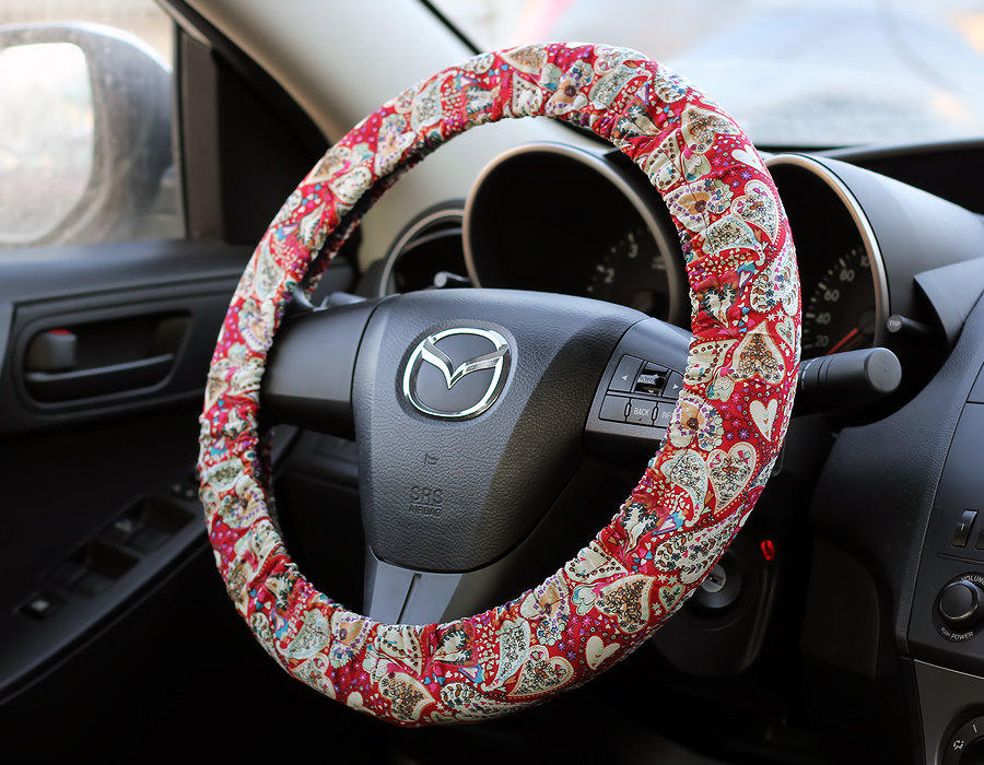 Steering Wheel Cover Bow Wheel Car Accessories Lilly Heated Interior Aztec Monogram Girls Tribal