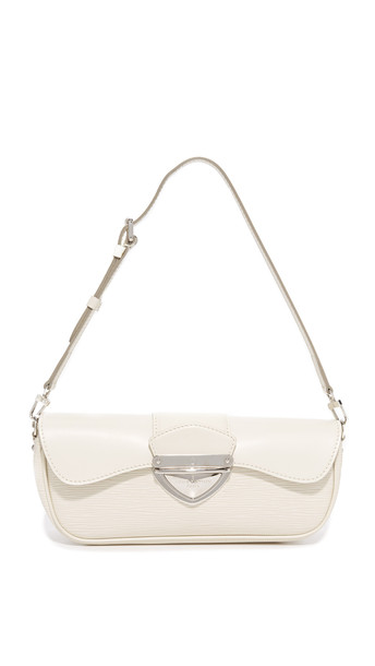 What Goes Around Comes Around Louis Vuitton Pochette Montaigne Bag (Previously Owned) - White
