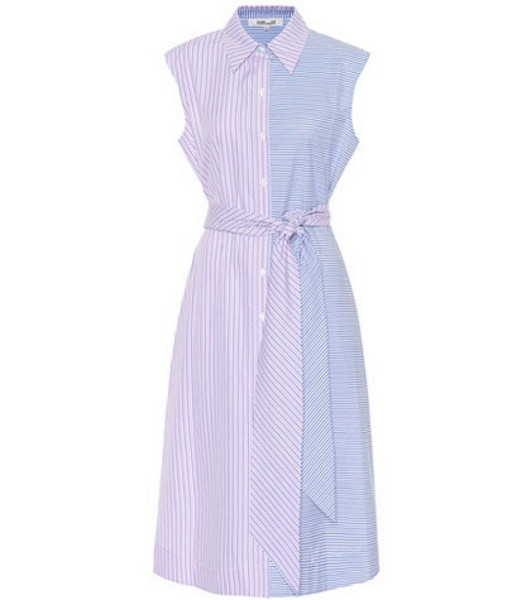 Diane von Furstenberg Sleeveless striped cotton dress