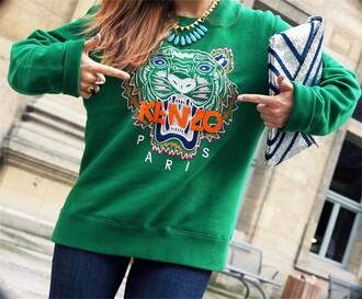sweater kenzo tiger print