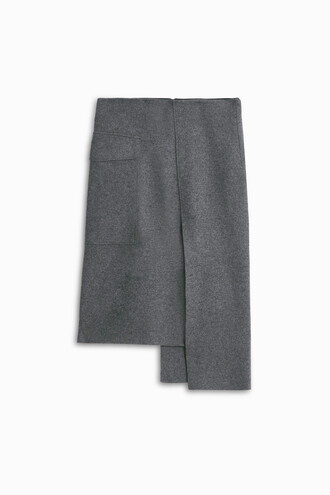 skirt women flannel grey
