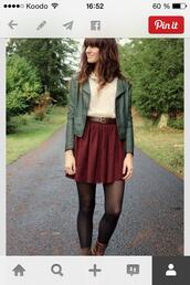 clothes,burgundy,fall outfits,vest,camouflage,top,beige,socks