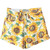 High Waist Sunflower Print Casual Denim Shorts